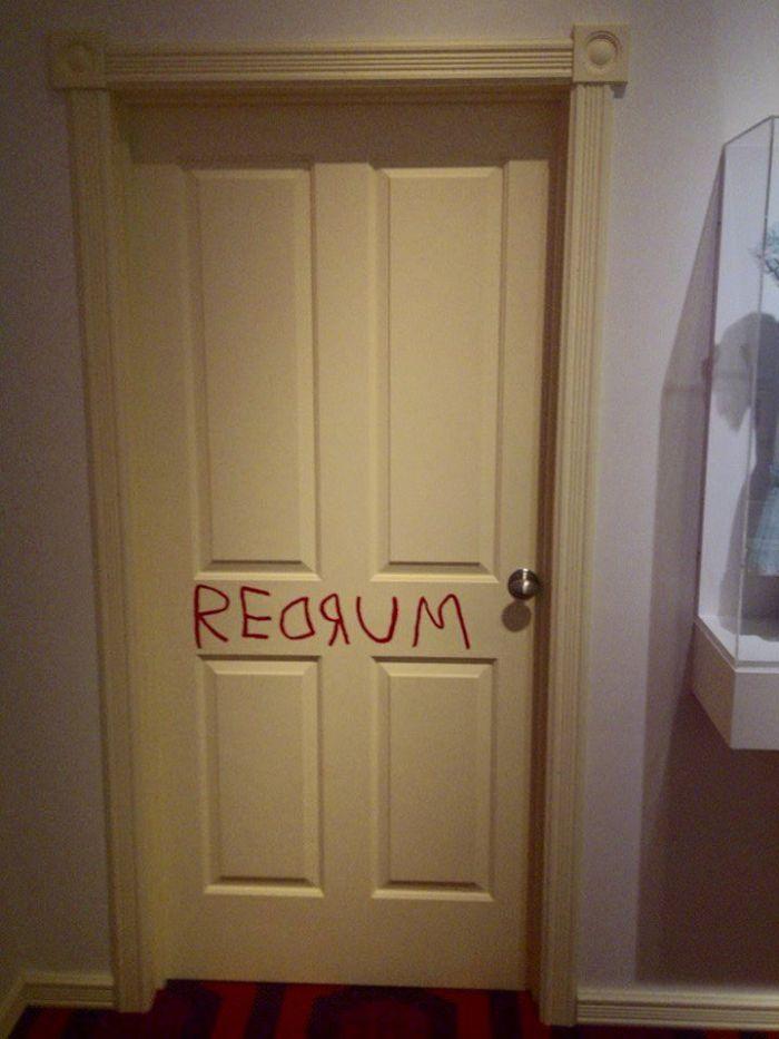 The Shing redrum door